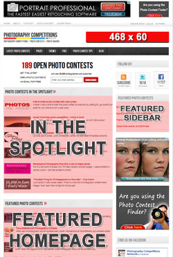 Homepage ad places - Promote your Photo Contest