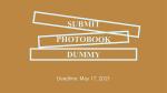Photobook Dummy Contest – SELF PUBLISH RIGA 2021