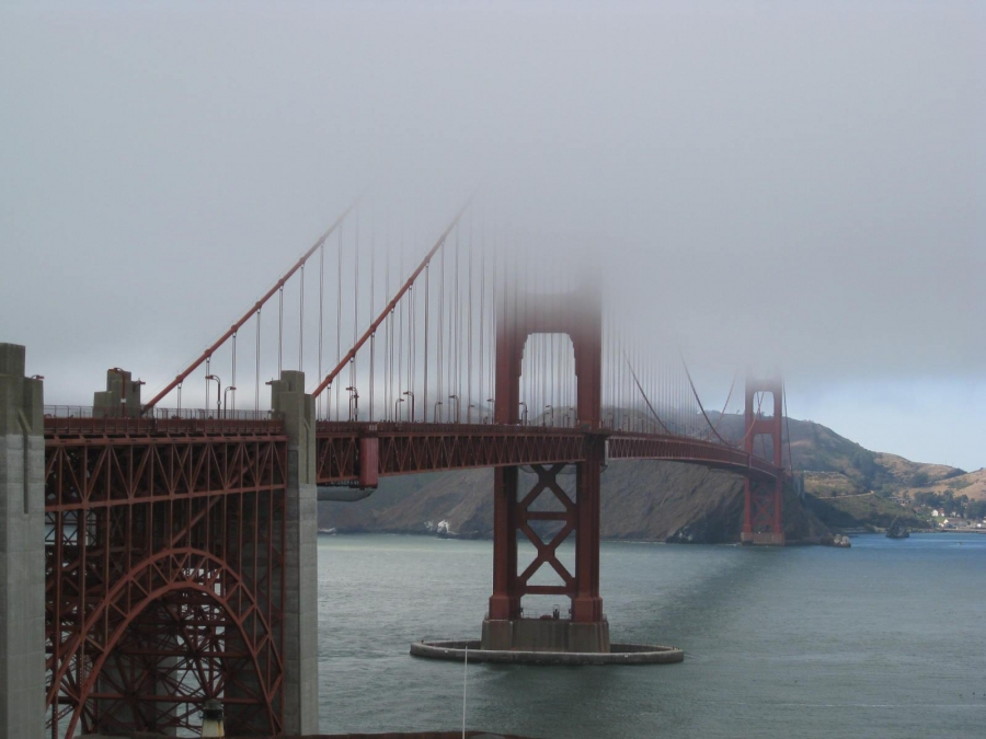 Golden Gate Bridge, San Francisco on a cloudy day