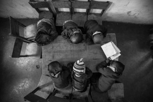 Sleepy heads -  Photo and caption by Joe Saade /National Geographic Traveler Photo Contest -  I went to Nairobi to shoot a film for an NGO. During our shoot at a school in Mathare slum, I took shelter from the heat and chaos in a school, and stumbled upon these sleepy heads. I put my camera on my monopod- self timer mode and held it up high.