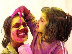 enjoying the Holi festival -  Photo and caption by manna michela/National Geographic Traveler Photo Contest -  This picture has been taken during the Holi festival in India