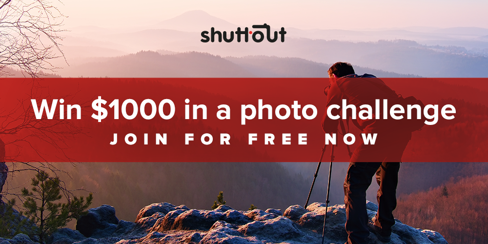 Amateur! Win $1000 in a Photo Challenge on Shuttout – Free entry