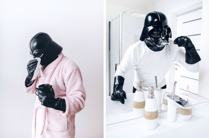 Darth Vader in bathroom