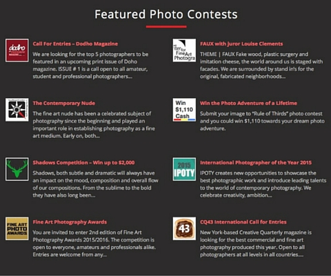 Promote your Photo Contest