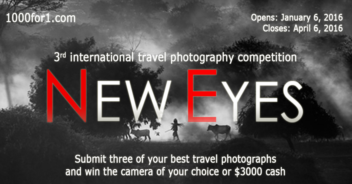 New Eyes – Win a Nikon D810, a Sony a7rII, a Canon 5Ds or $3,000 cash!