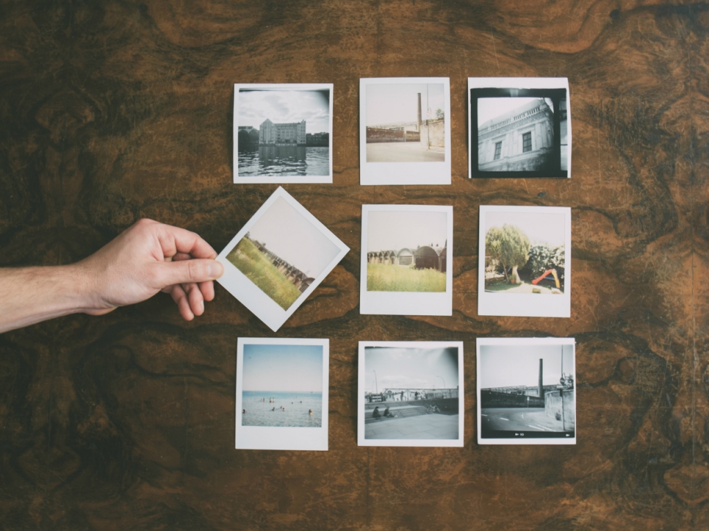 collection of old instant pictures