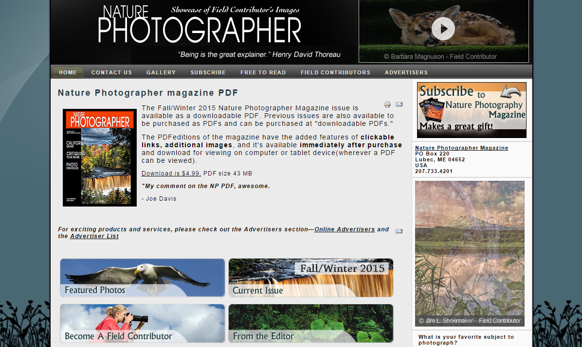 Nature Photographer Magazine