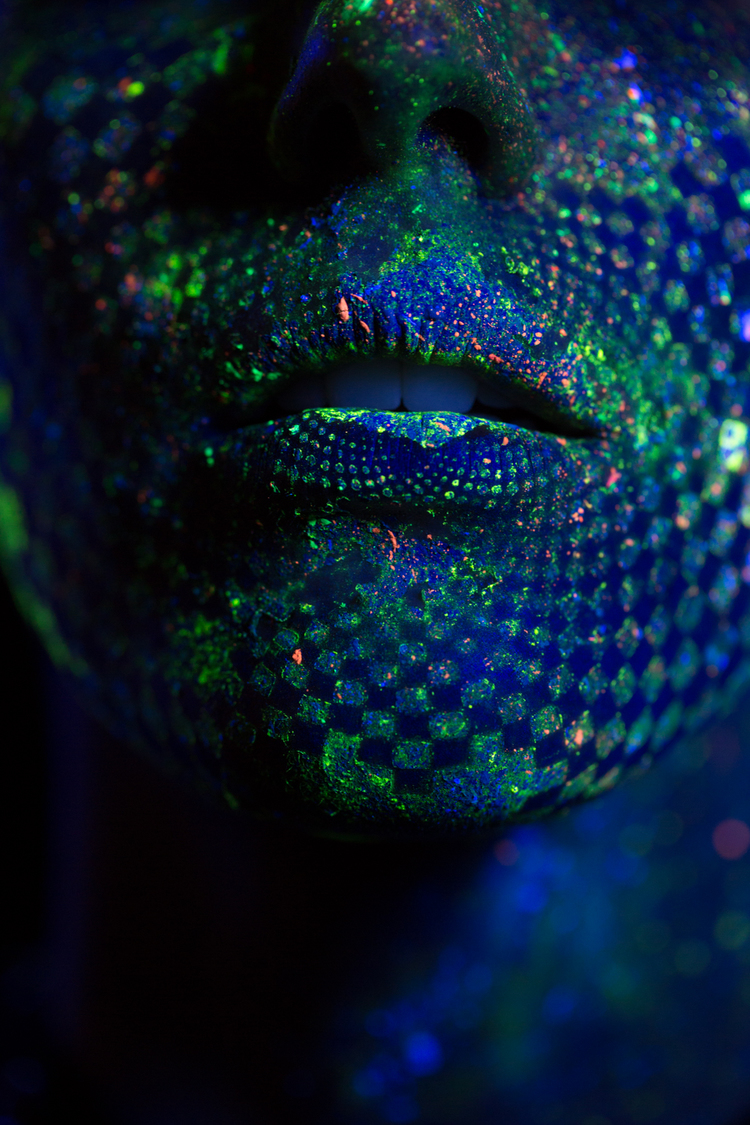 Enter the Surreal World of Black Light Photography