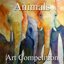 """6th Annual """"Animals"""" Juried Online Art Competition"""
