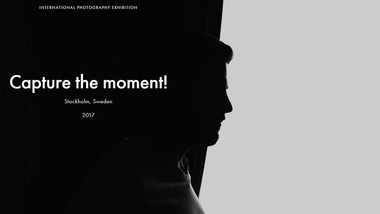 Capture the moment! international photography exhibition