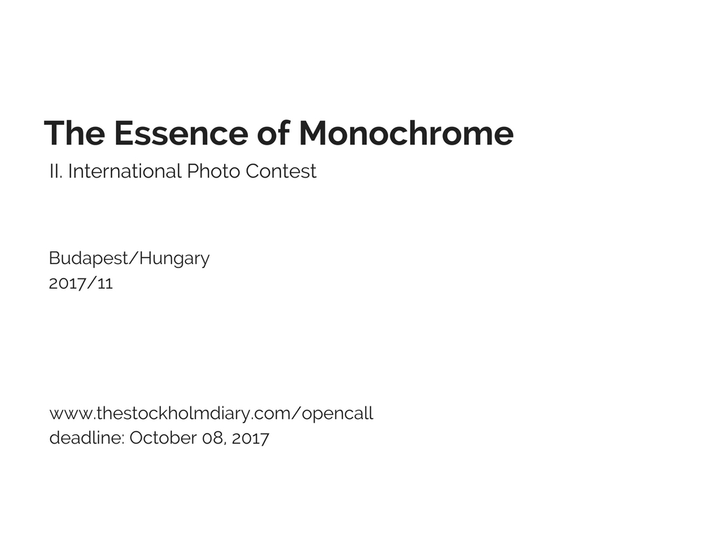 The Essence of Monochrome – International Photo Contest