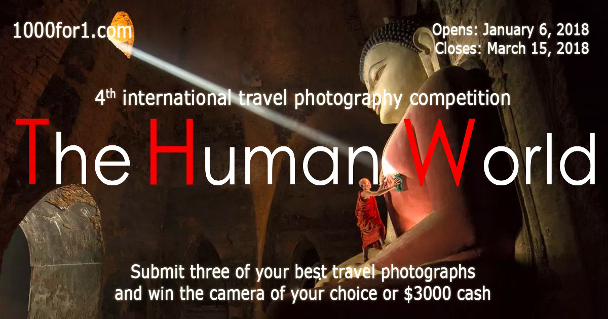 Submit three of your best travel photo and win either a Nikon D850, a Sony a7rIII, a Canon 5D mark IV or $3000 cash!
