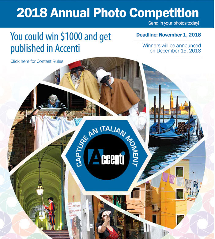 2018 Accenti Annual Photo Contest