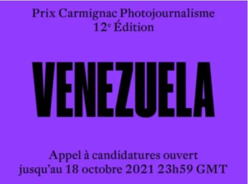 CARMIGNAC PHOTOJOURNALISM AWARD 2021: VENEZUELA